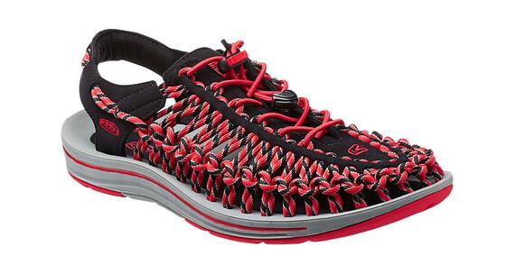Keen Uneek Slice Fade Sandals Men black/racing red